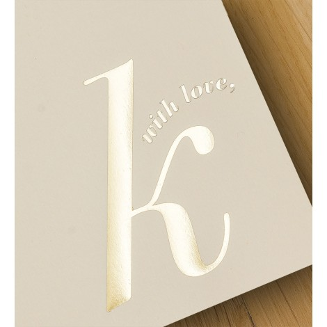 with love, k - A4 letterheads