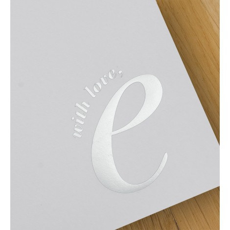 with love, e - A4 letterheads