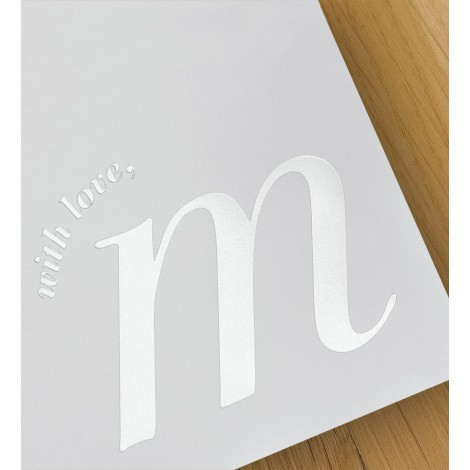 with love, m - A4 letterheads