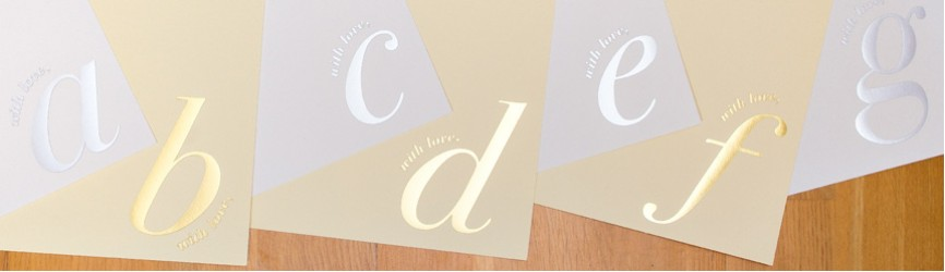 A5 Initialled Notelets