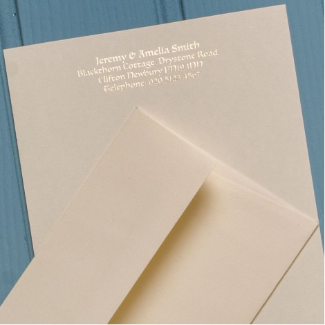 A5 Personal Cream Notelets & Matching Envelopes