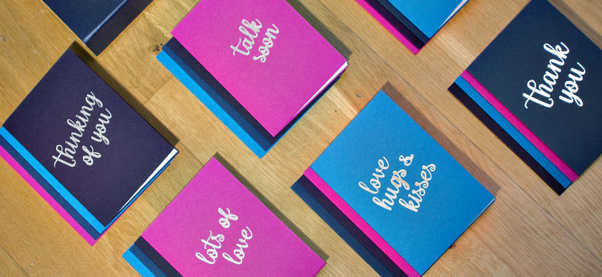 Luxury Greeting Cards with a versatile range of messages covering most occasions