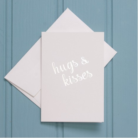 Hugs & Kisses Greeting Cards