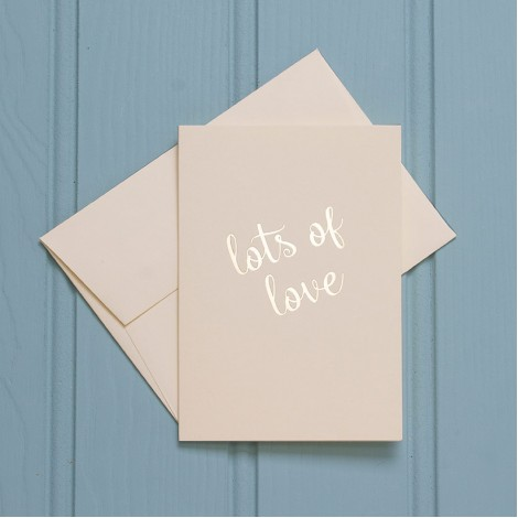 Lots of Love in Gold - Single Greeting Card