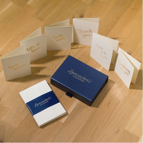 Greeting Cards with Gold Message on Cream - Mixed Box