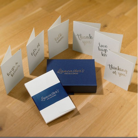 Greeting Cards with Silver Message on White - Mixed Box