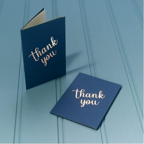 Thank You Luxury Greeting Cards - Gold Message