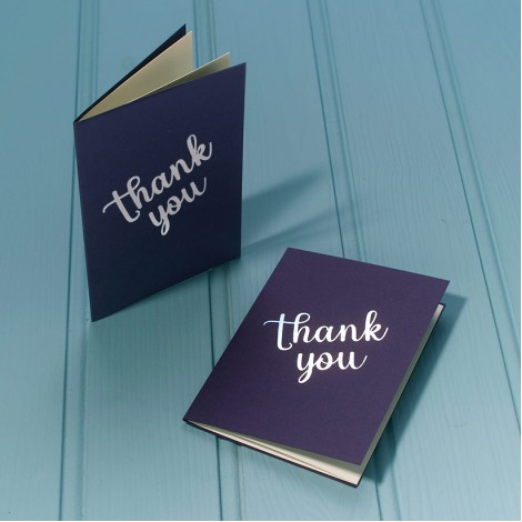 Thank You Luxury Greeting Card - Silver Message